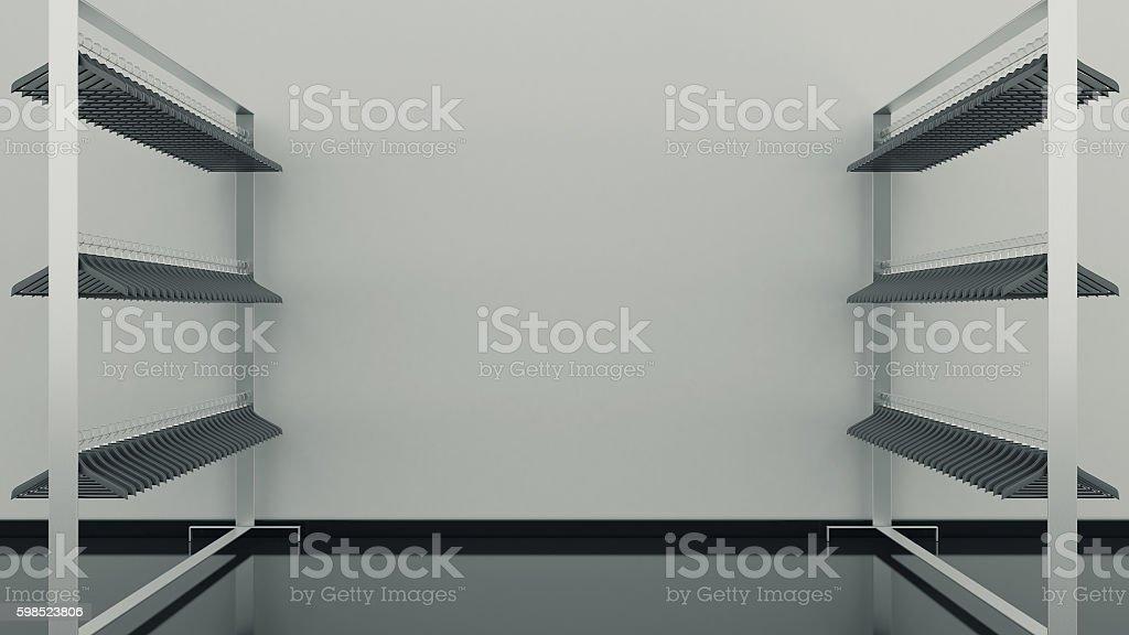 shelf clothes empty stock photo