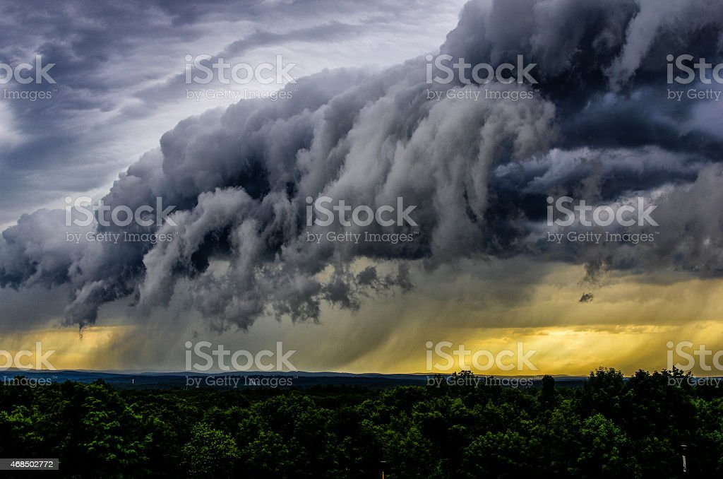 Shelf clouds stock photo