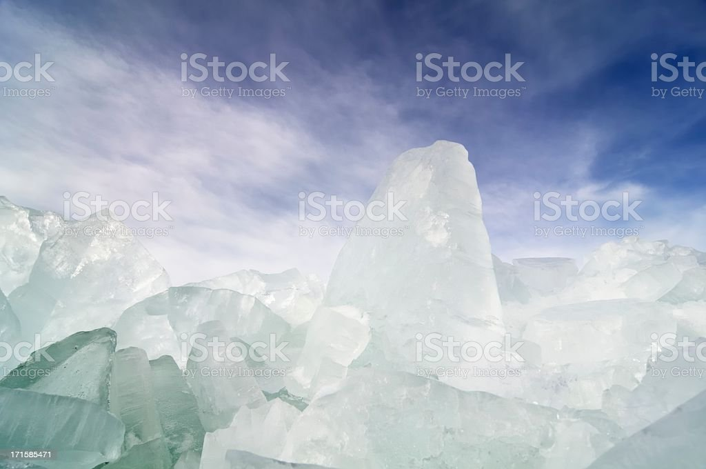 Shelf ice stock photo