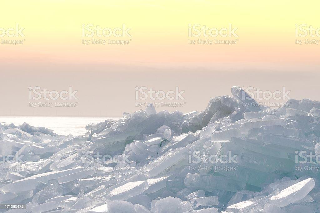 Shelf ice stock photo