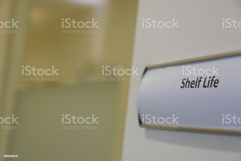 Shelf Life stock photo