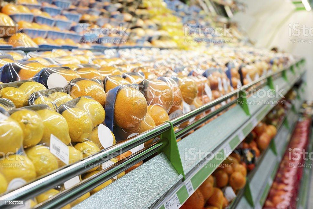 Shelf with fruits royalty-free stock photo