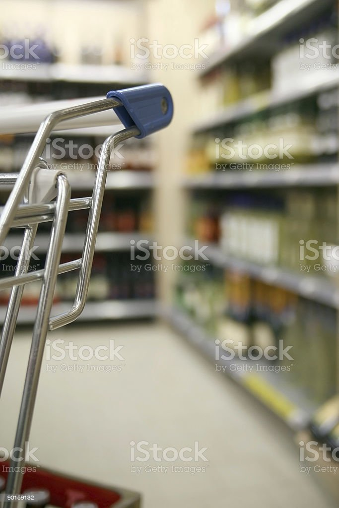 Shelf with spirits in a supermarket royalty-free stock photo