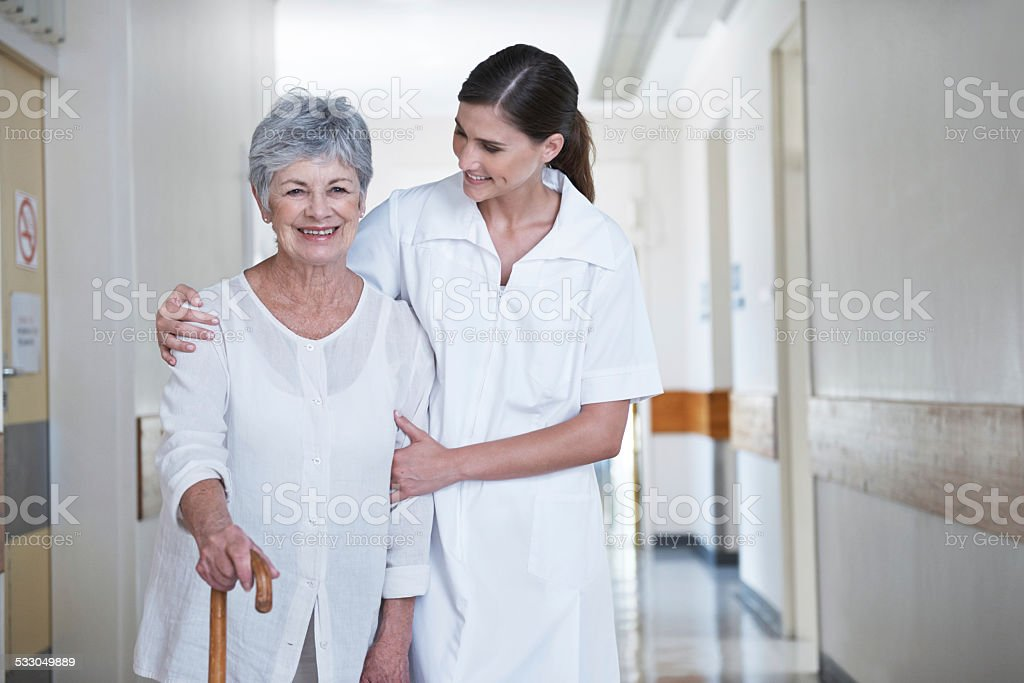 She'll always be by her side stock photo