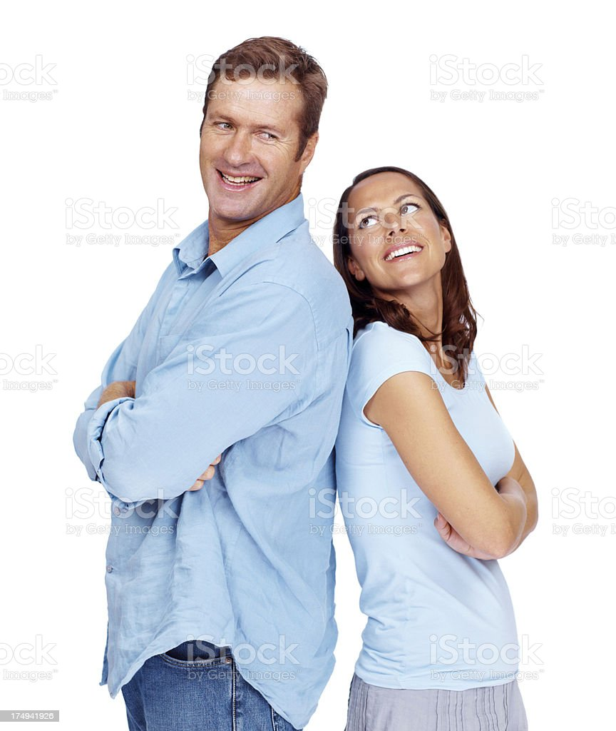 She'll always look out for him royalty-free stock photo