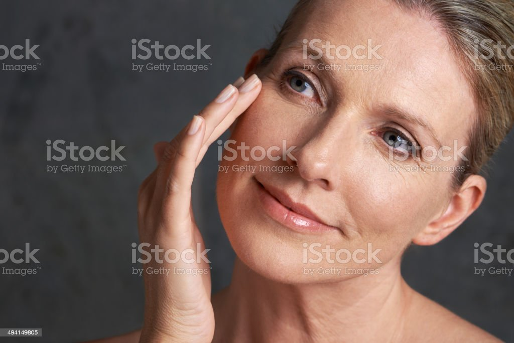 She'll be beautiful forever stock photo