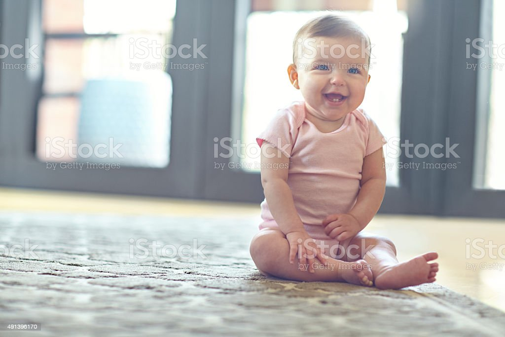 She'll be on her feet in no time! stock photo