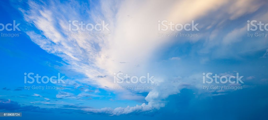 Shell Cloud of a Thunderstorm Supercell stock photo