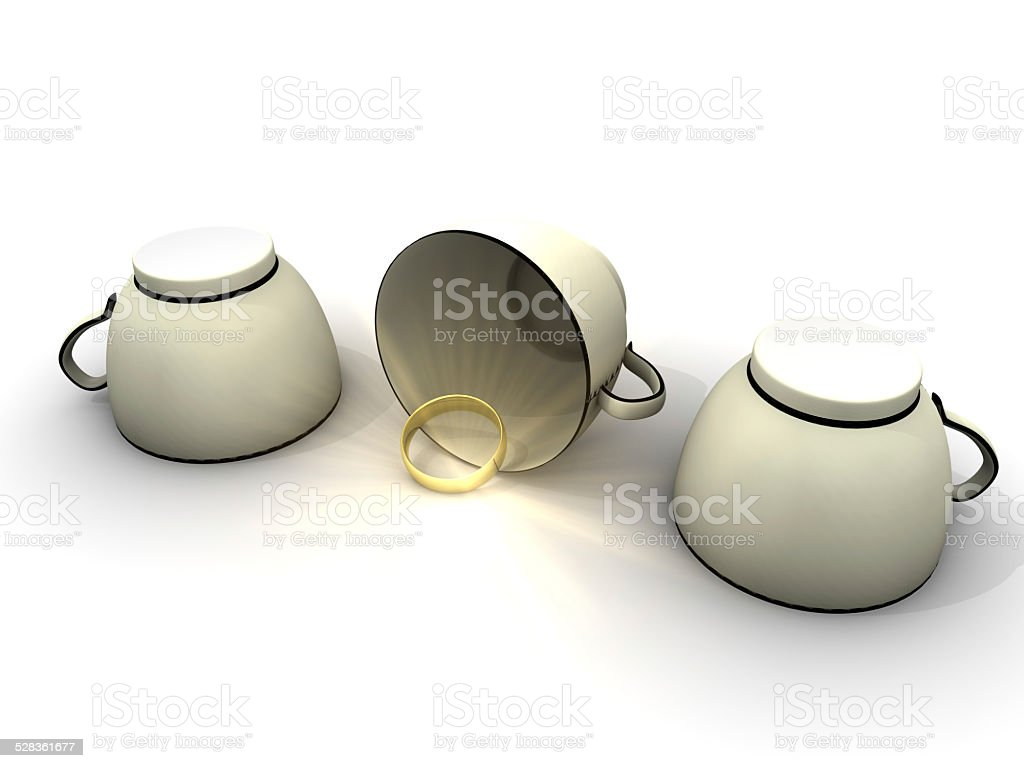 Shell Game and Golden Ring stock photo
