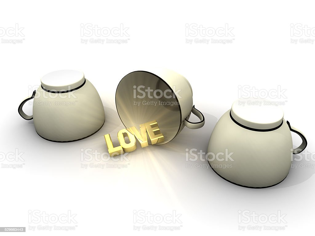 Shell Game and Love stock photo