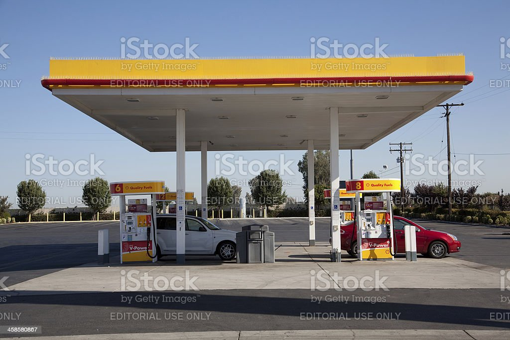 Shell Gas Station royalty-free stock photo