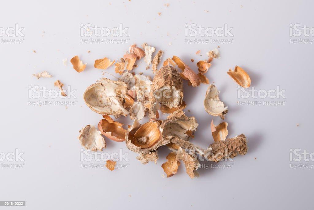 Shell of peanut stock photo