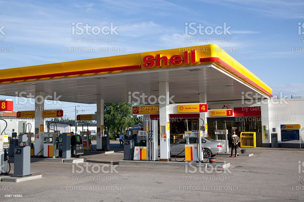 Shell Oil Company Gas Station stock photo