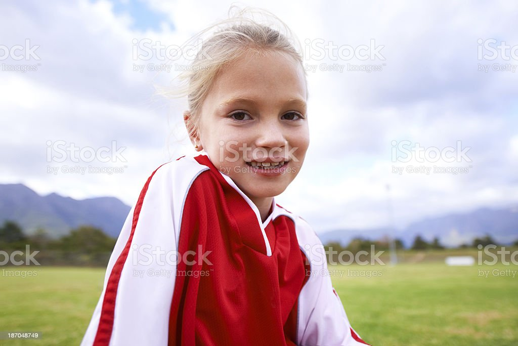 She'll play in the big leagues one day royalty-free stock photo