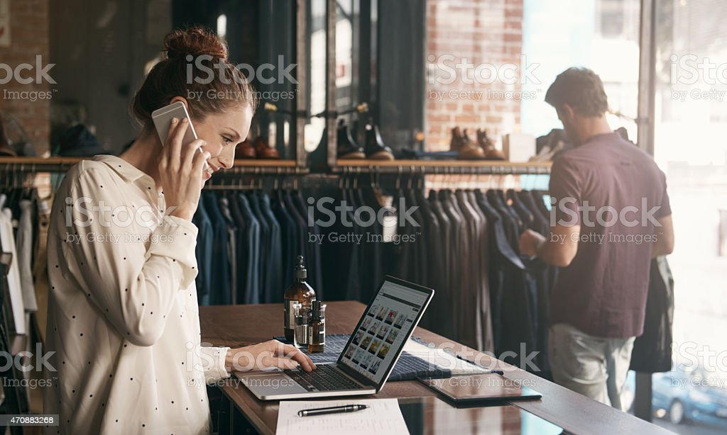 She'll source whatever her customers are looking for stock photo
