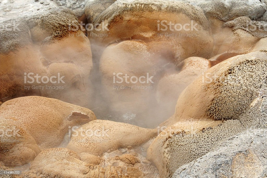 Shell Spring Geyser in Yellowstone stock photo