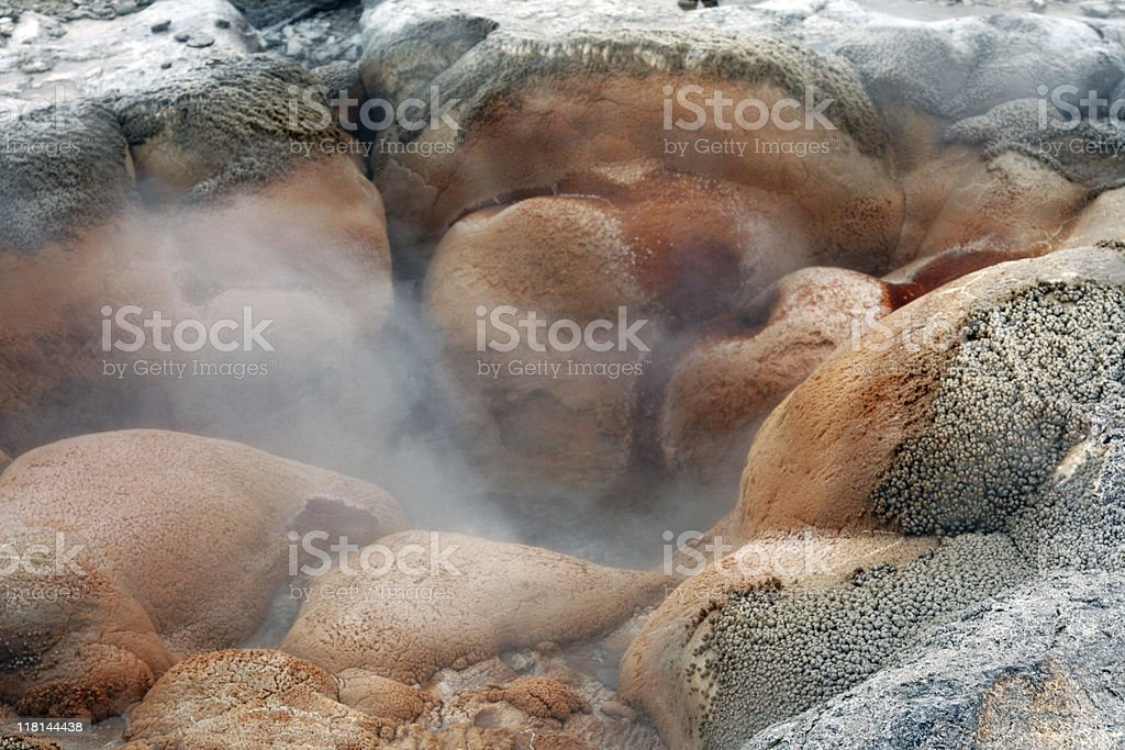 Shell Spring in Yellowstone stock photo