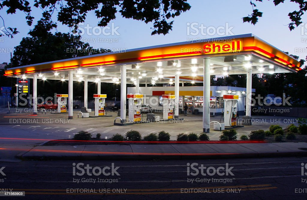 Shell Station royalty-free stock photo