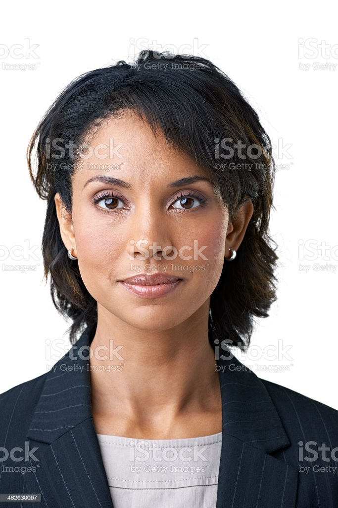 She'll take your business concerns seriously - Corporate consult stock photo