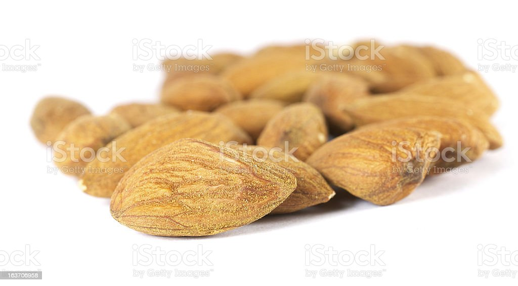 shelled almonds royalty-free stock photo