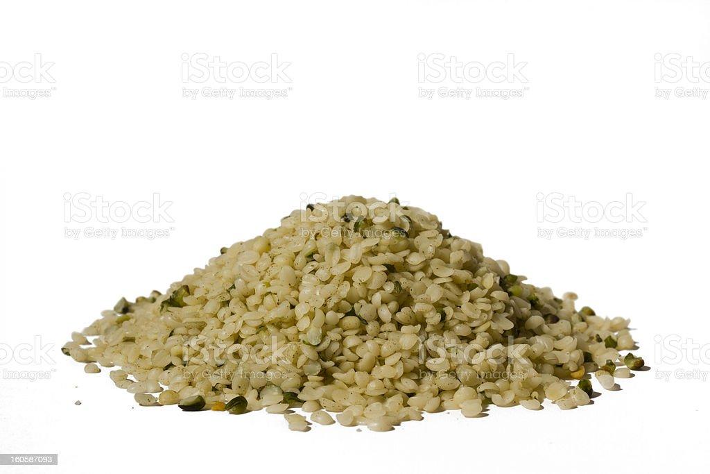 Shelled hemp seeds royalty-free stock photo
