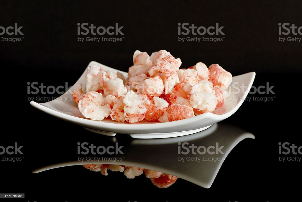 scampi sgusciati royalty-free stock photo