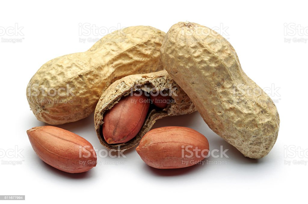 Shelled peanuts stock photo
