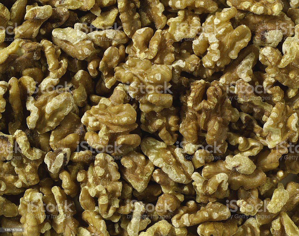 Shelled Walnuts background royalty-free stock photo