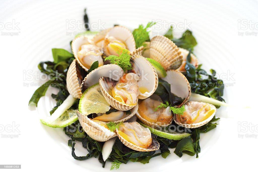 Crustacés Palourde hors-d'œuvre. photo libre de droits