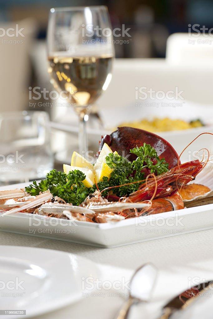 Shellfish Dish royalty-free stock photo