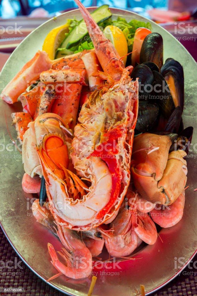 shellfish in Bergen in Norway stock photo