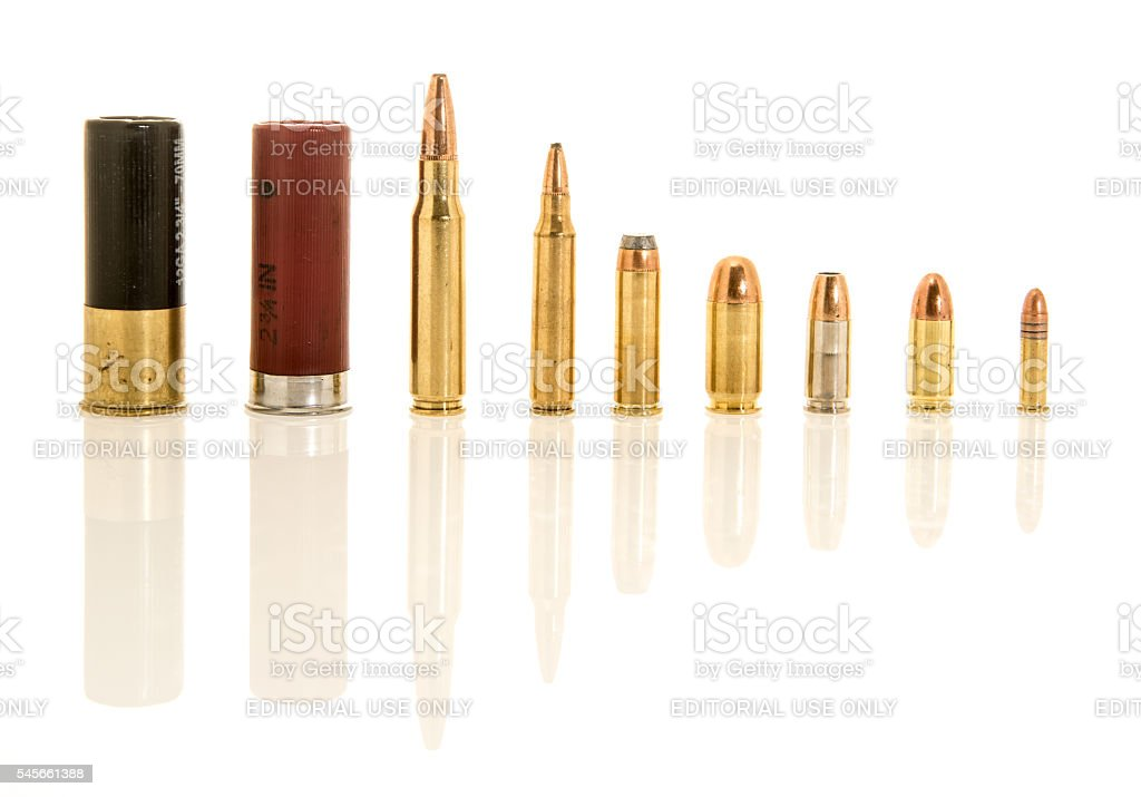 Shells of Different Caliber stock photo
