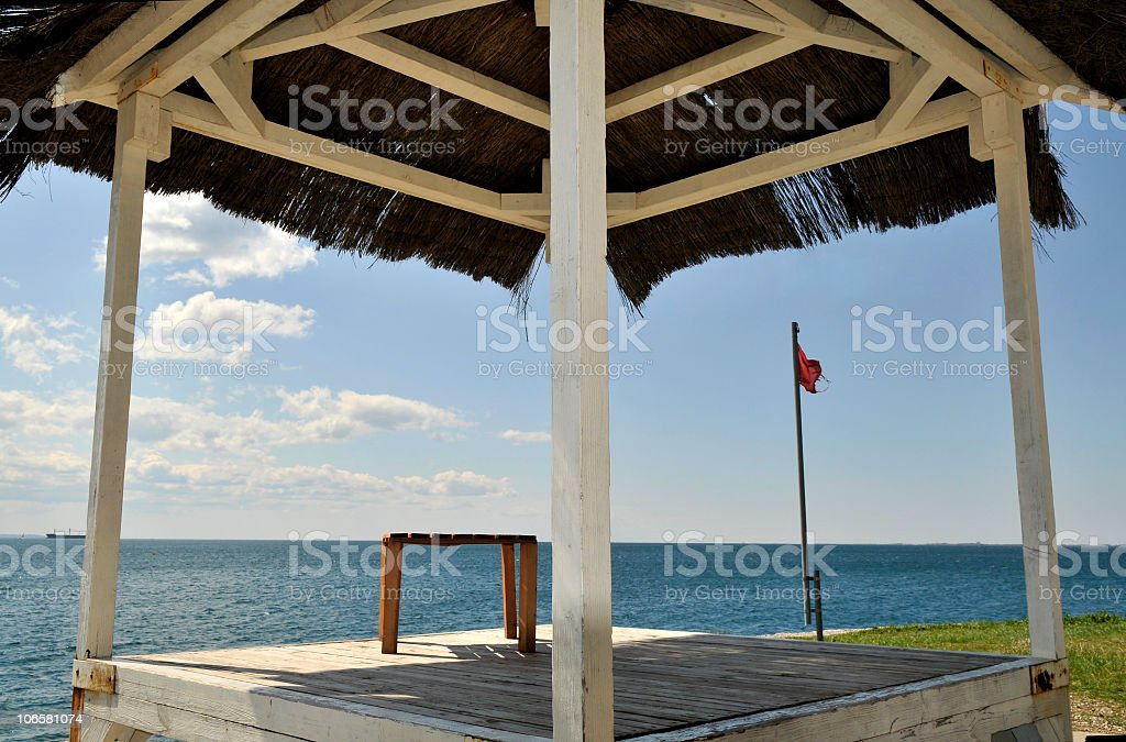 Shelter for Sea Admirers stock photo