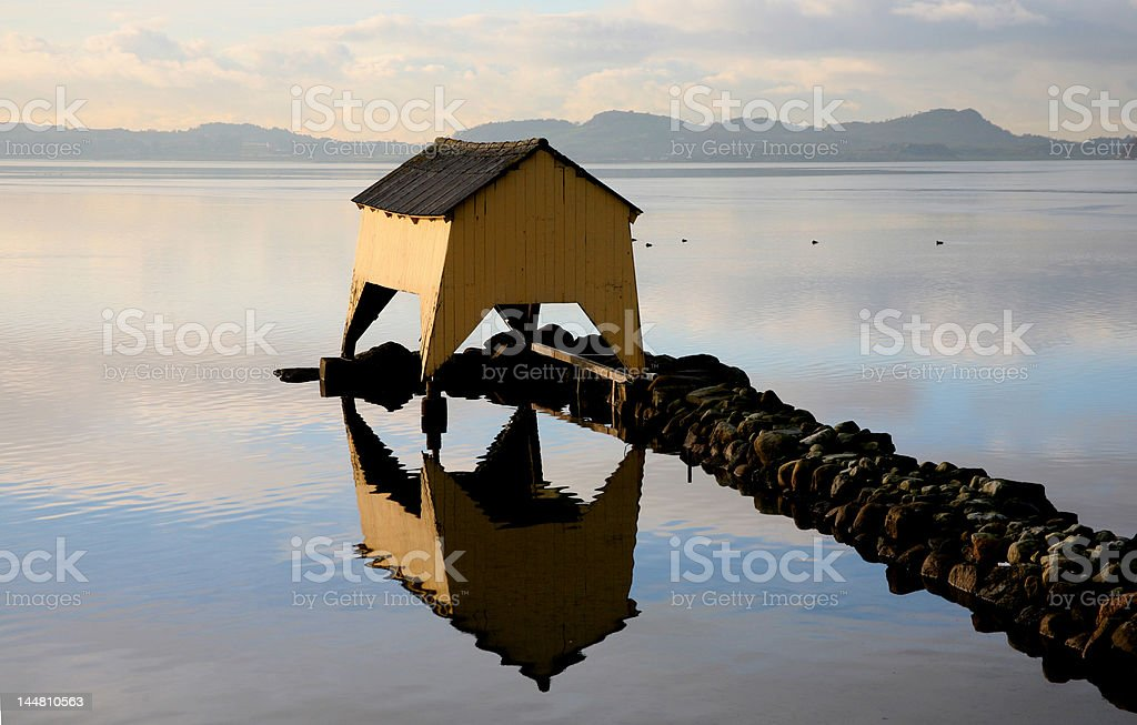 Shelter for small boats royalty-free stock photo