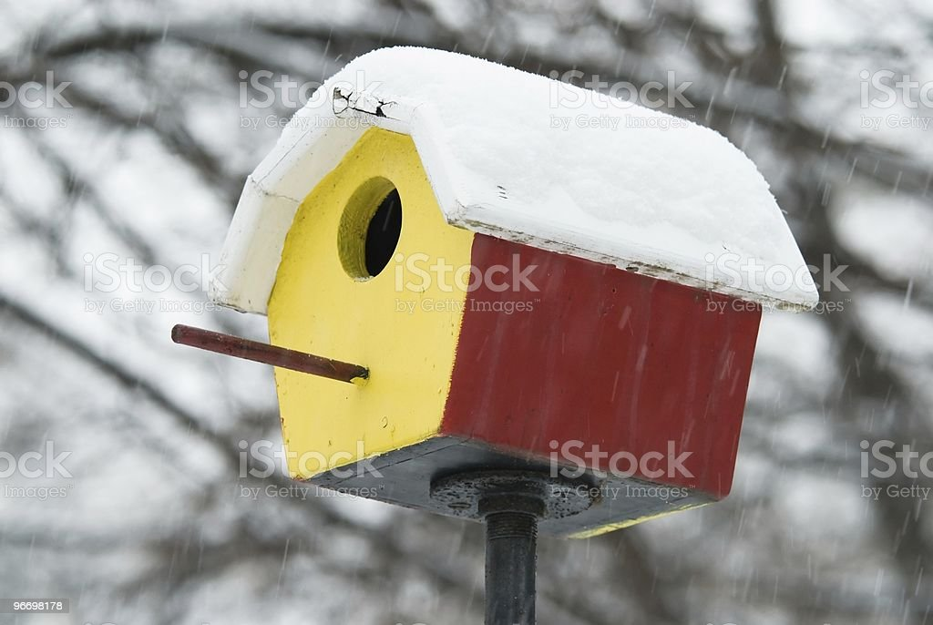 Shelter in snowstorm royalty-free stock photo