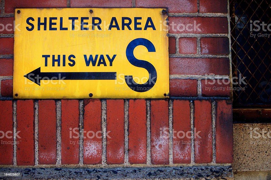 Shelter Sign stock photo