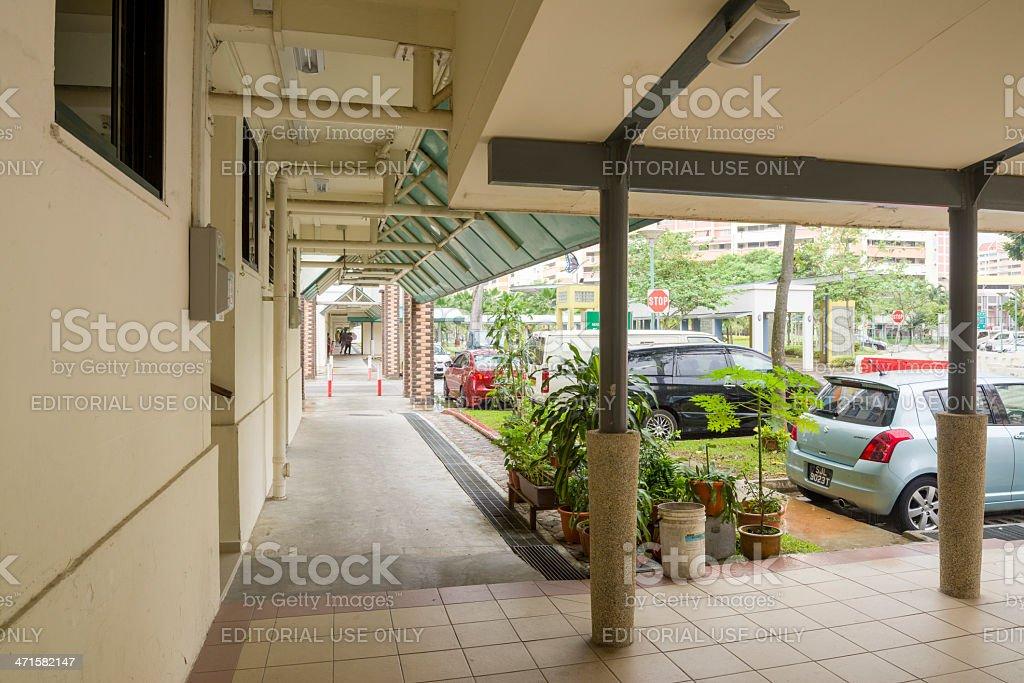 HDB Sheltered walkway royalty-free stock photo