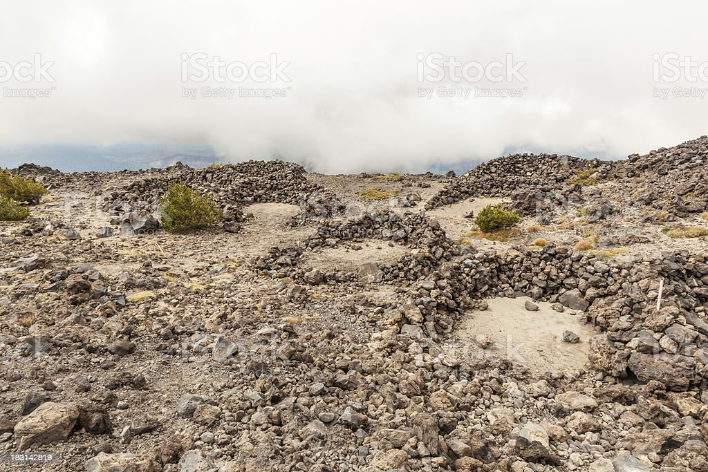 Shelters on the Mountain royalty-free stock photo