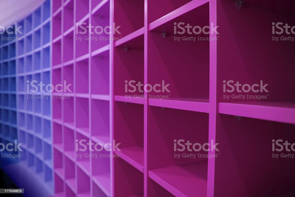 Shelve pattern in perspective royalty-free stock photo