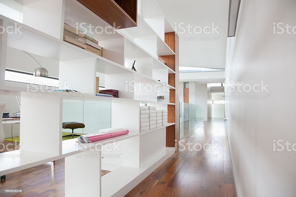 Shelves in modern house royalty-free stock photo
