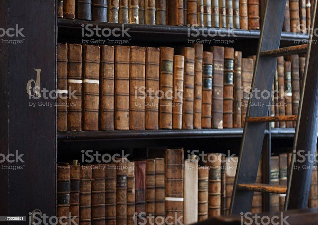 Shelves in The Long Room Trinity stock photo