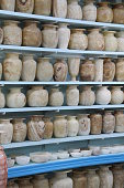 Shelves of Alabaster pots