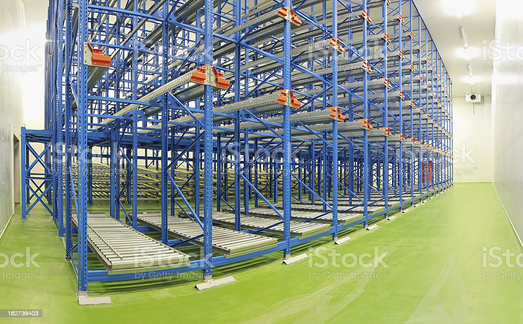 Shelving system warehouse royalty-free stock photo