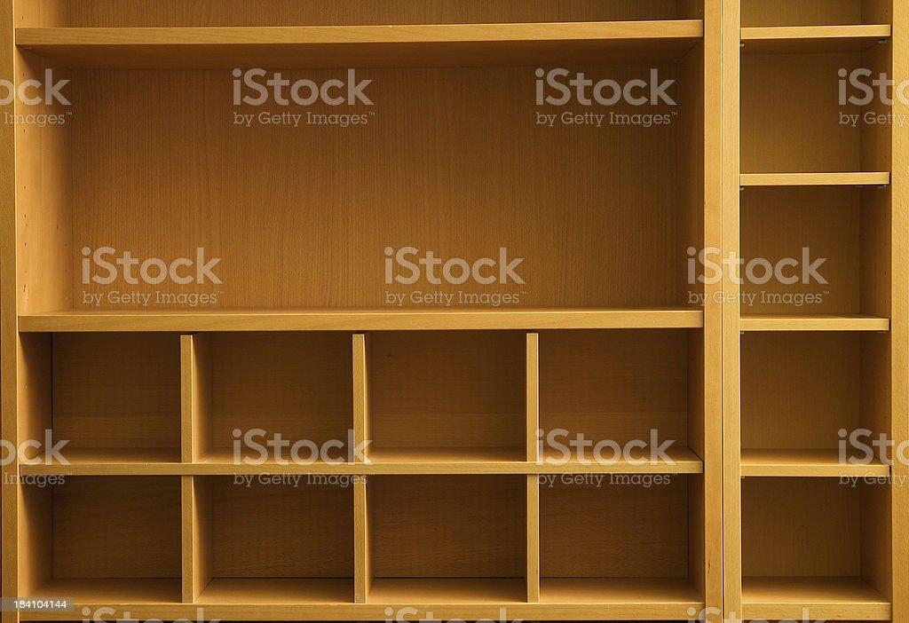 Shelving unit stock photo