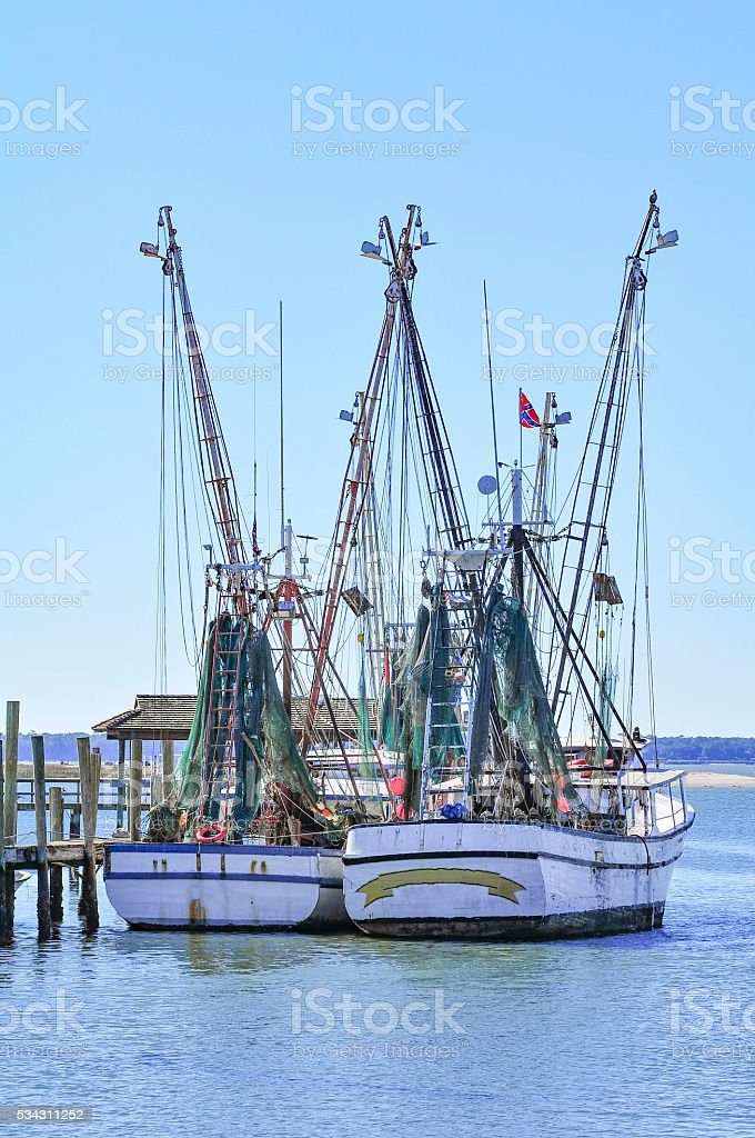 Shem Creek Pair stock photo