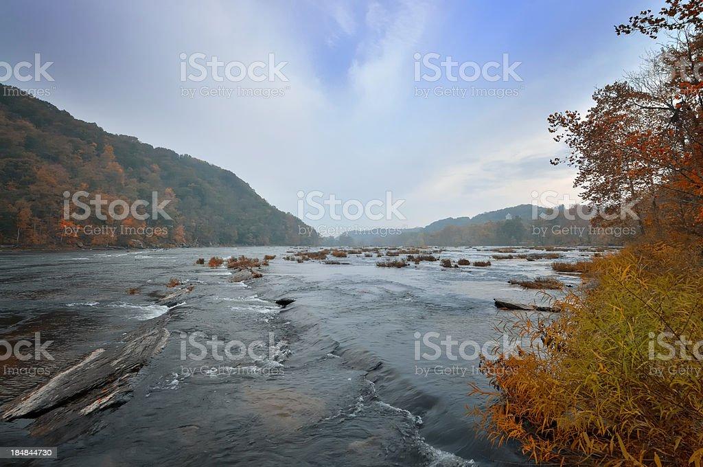 Shenadoah River Valley In Fall stock photo