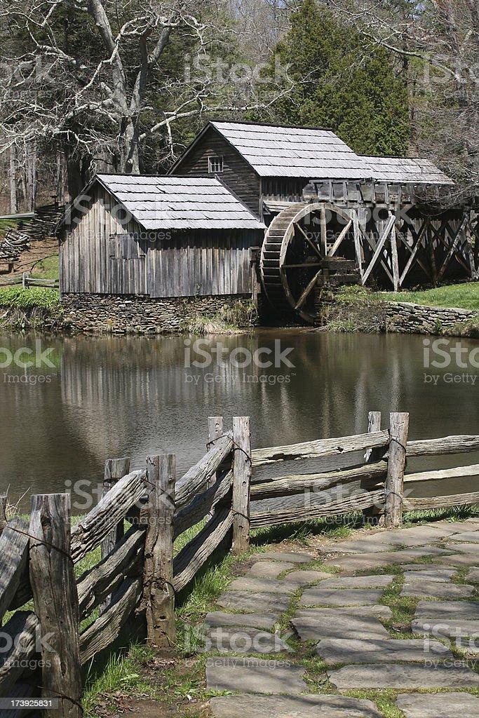 shenandoah mill stock photo