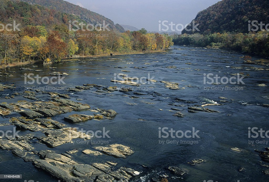 Shenandoah River in West Virginia stock photo