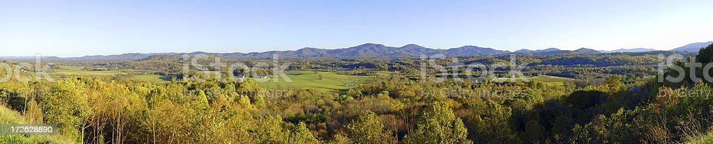 Shenandoah Valley Panorama royalty-free stock photo