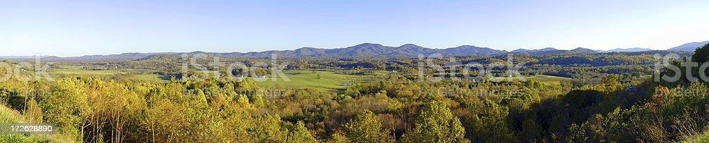 Shenandoah Valley Panorama stock photo